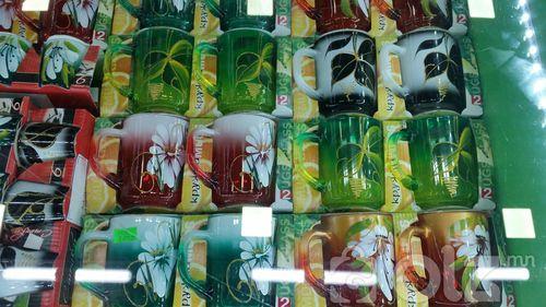 өнгөтэй хос стакан
