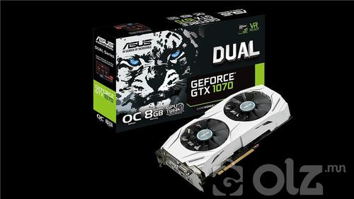 ASUS DUAL GeForce® GTX 1070-O8G1613000