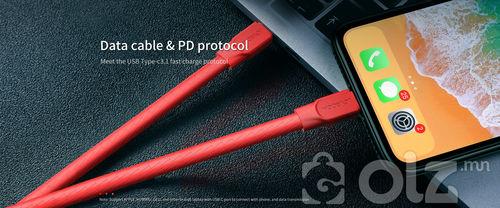 Титан PD хурдан цэнэглэгч дата кабель S-L127 /Шинэ материалаар хийгдсэн /