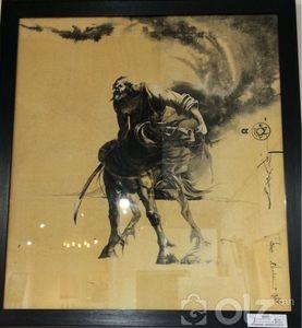 «Харуул» Монгол зургийн арга Мөнхжаргал /Гаврош/ 2017 он Хэмжээ:70*80