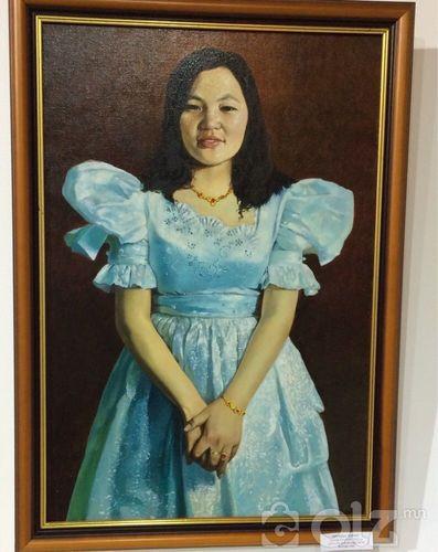 «Охины херег» Д.Наранцэцэг 2002 он Хэмжээ:85*60 зотон тос