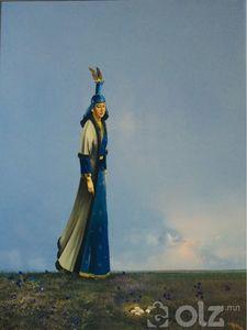 «Бодол» Зураач:Хvрэлбаатар 2006 он Хэмжээ:84*100 зотон тос
