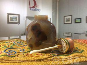 Их гарын халтар мана монгол чулуу 157.2 гр нийт жин шүрэн толгой ясан халбага оюу хавчуурга мөнгөн ултай