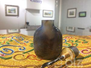 Халтар мана 63.3 гр өвөрмөц тогтоц бүхий мана чулуу мана чулуу толгойтой алтан нуухтай мөнгөн ул ясан халбагатай