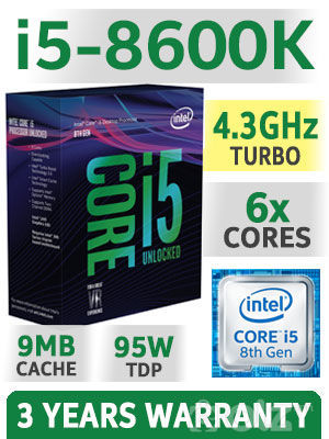8th Gen Intel® Core™ i5-8600 Processor
