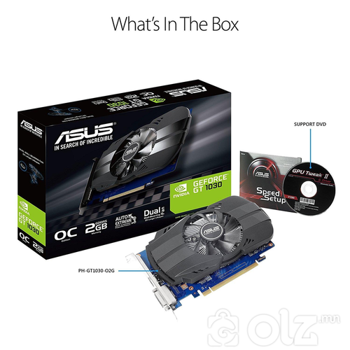 Displey Card ASUS GeForce® PH-GT 1030-O2G