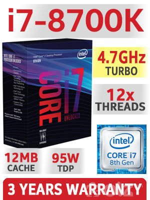 8th Gen Intel® Core™ i7-8700K Processor