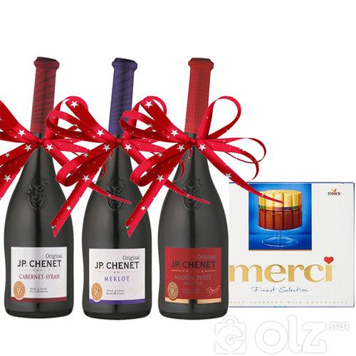 J.P CHENET / FRANCE -Cabernet Sauvignon -Merlot Medium -Sweet Rouge