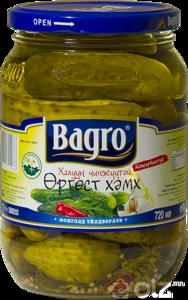 [15204] Bagro Бүхэл огурцы /Чили/ 720гр