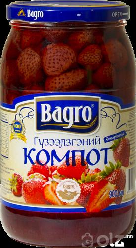 [15604] Bagro 1 Компот 0.9л Гүзээлзгэнэ
