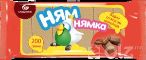 """[19020] Ваф """"Ням Нямка"""" 200г Шоколадтай 1/24 (Ф42)"""