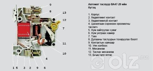 Автомат таслуур ВА47-29 2Р